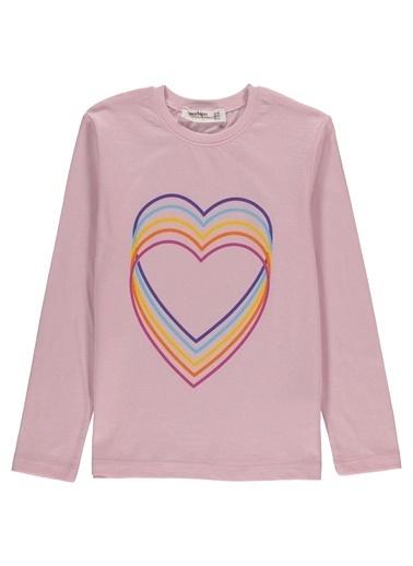 Morhipo Kids Baskılı Uzun Kol T-Shirt Pembe